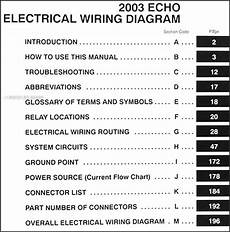 2003 Toyota Echo Wiring Diagram Manual Original