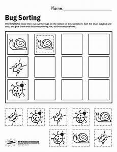 free sorting worksheets for preschoolers 7870 bug sorting worksheet paging supermom preschool supermom worksheets and rocks