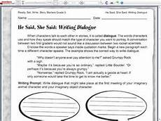 dialogue worksheets 18248 he said she said writing dialogue 5th 6th grade worksheet lesson planet