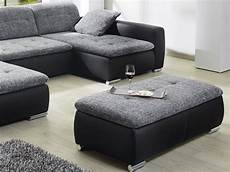 sofa mit hocker sofa couch ferun 365x200 185cm mit hocker anthrazit