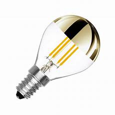 Dimmbare E14 Led Birne Filament Gold Reflect G45 3 5w