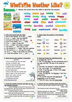 weather worksheets esl adults 14493 what s the weather like worksheet free esl printable worksheets made by teachers idioma