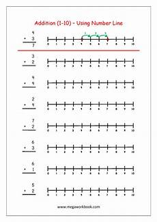 addition worksheets using number line 8951 free printable number addition worksheets 1 10 for kindergarten and grade 1 addition on