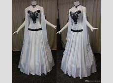 Discount 2018 White Gothic Wedding Dresses Sweetheart Lace