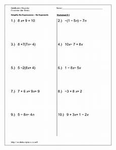 distributive property combine like terms worksheet for 8th 10th grade lesson planet