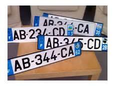 nouvelles plaques immatriculation pratique les nouvelles plaques d immatriculation en 2009
