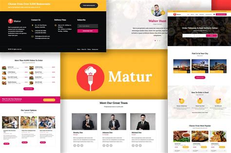 matur v1 1 food delivery ordering wordpress theme