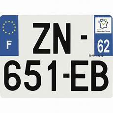 Plaque Immatriculation Hybride 275 X 200 Mm D 233 Partement 62