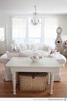 make a white living room chic distressed yet pretty white shabby chic living rooms