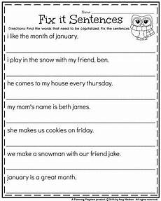 writing sentence worksheet for grade 2 22268 1st grade worksheets for january language arts 1st grade worksheets 1st grade writing 2nd