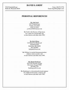 resume personal reference list resource management welcome to wesclin family and consumer science