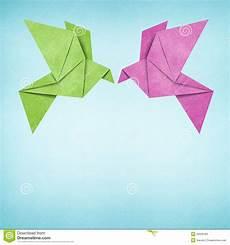 Origami Vögel Falten - origami vogel gemacht aufbereitetem papier stock
