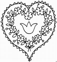 Ausmalbild Blumen Herz Herz Mit Blumen 2 Ausmalbild Malvorlage Gemischt