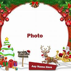 merry christmas 2020 photo frames card editor with name