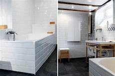 salle de bain carrelage blanc sur murs et tablier