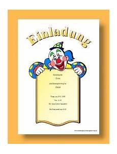 Clown Malvorlagen Ausdrucken Word Einladung Geburtstag Word Vorlagen Geburtstagsspr 252 Che