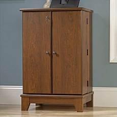 sauder camarin multimedia storage cabinet in milled cherry walmart com