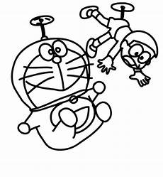 Kumpulan Sketsa Gambar Mewarnai Hitam Putih Kartun Nobita
