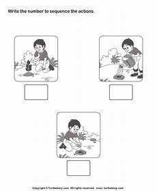 plants sequencing worksheets 13629 picture sequencing boy planting a tree worksheet turtle diary