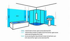 Bathroom Lighting Ip Zones by How To Position Downlights In A Kitchen Bathroom Living