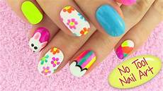 easy diy nail art designs without any tools youtube