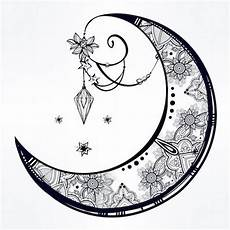 crescent moon mandela feminine moon tattoos