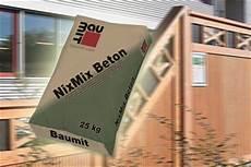 baumit nixmix beton ohne mischwerkzeug betonieren