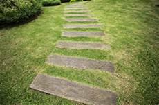 chemin bois jardin chemin de jardin avec du bois et la pelouse image libre de