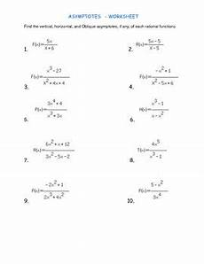 asymptote worksheet with answers asymptotes worksheet with key by easy math teachers pay teachers