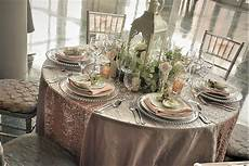 it s all about blushes and glitz for 2019 custom table tablescapes linen chair covers