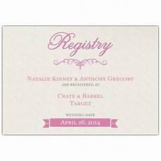 Wedding Registry Cards In Invitations