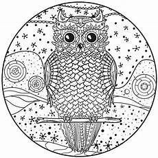 Malvorlage Eule Mandala Mandala Mit Eule Vektor Abbildung Illustration Hallo