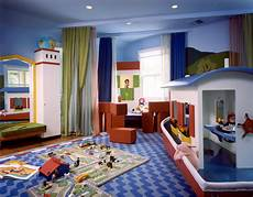 Colorful Bedroom Playroom Design