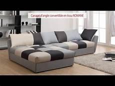 Canap 233 D Angle Convertible En Tissu Romane