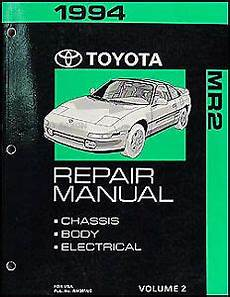 online service manuals 1994 toyota celica free book repair manuals 1994 toyota mr2 repair manual volume 2 chassis body electrical shop book new ebay
