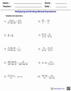 multiplying and dividing rational expressions worksheets education algebra 2 worksheets