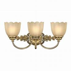 traditional bathroom over mirror wall light in brass w