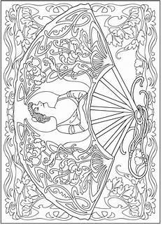 creative haven vintage hand fans coloring book dover coloring pages coloring books coloring