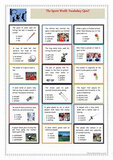 sports and entertainment worksheets 15790 the sports world vocabulary quiz worksheet free esl printable worksheets made by teachers
