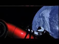 Roter Tesla Als Frachtversuch Im All Angekommen