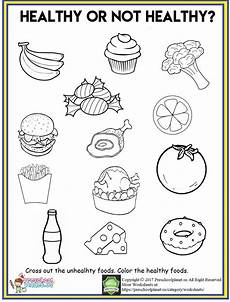 healthy food worksheet preschoolplanet