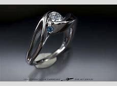 14K Palladium White Gold Engagement Ring with Custom