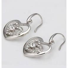 anting emas putih dobel love galery perhiasan