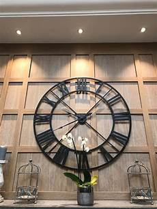large black outline skeleton wall clock mulberry moon