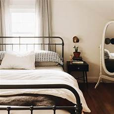 Bedroom Ideas Black Iron Bed by Wrought Iron Bed Midcentury Bedside Table Casa Home