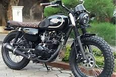 Modifikasi W175 Se by Kawasaki W175 Modif Scrambler Tanpa Mengutak Atik Rangka