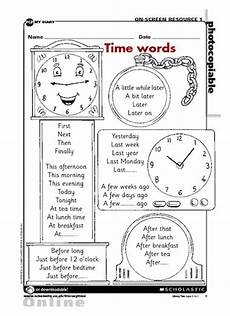 time sequencing worksheets 3200 time words free primary ks1 teaching resource scholastic