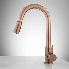 copper kitchen faucet finite single kitchen faucet with swivel spout and pull out spray kitchen