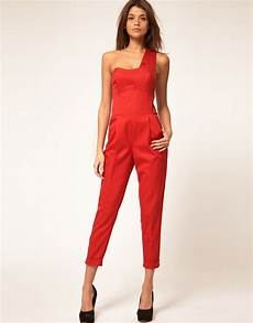 asos collection jumpsuit with one shoulder detail in