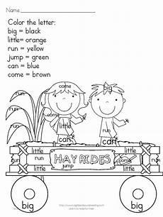 fall coloring worksheets for kindergarten 12917 printable fall coloring pages color by letter sight word sight word coloring grade